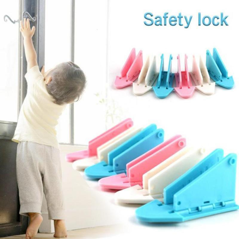 5Pcs Safety Lock Baby Kids Safety Protection Guard Sliding Door Window Stopper Limiter Blocker Security Lock Latch Stopper