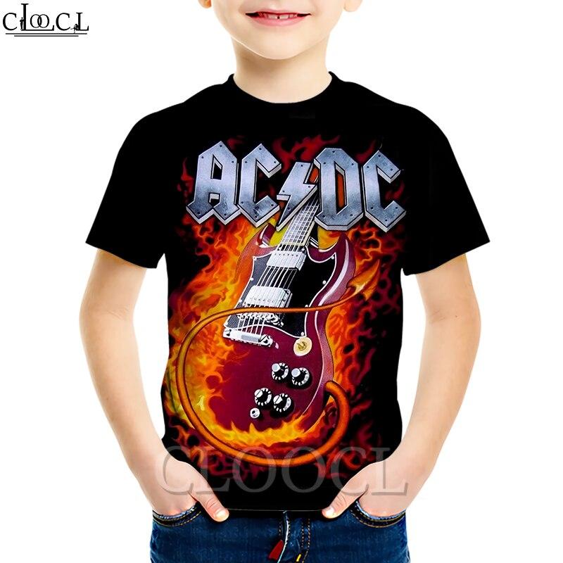На возраст от 4 до 13 лет Детская гитара Teen Idol рок брендовая мужская 3D Футболка с принтом для мальчиков, свитер для девочек, детские модные шор...