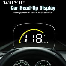 WiiYiiรถC700S HUD Head UpจอแสดงผลOBD2 GPSระบบOverspeedคำเตือนดิจิตอลกระจกOverspeed Diagnostic
