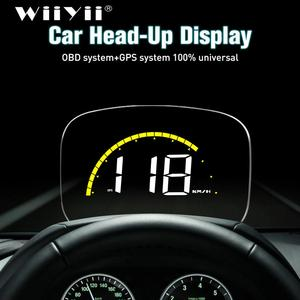 Image 1 - WiiYii רכב C700S HUD הראש למעלה תצוגה OBD2 GPS מערכת Overspeed אזהרה מראה דיגיטלי שמשה קדמית מקרן Overspeed אבחון