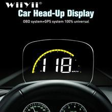Wiiyii車C700S hudヘッドアップディスプレイOBD2 gpsシステム速度超過警告ミラーデジタルフロントガラスプロジェクター速度超過診断