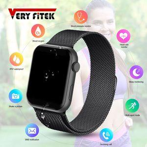 Image 1 - VERYFiTEK F10 akıllı saat nabız monitörü kan basıncı spor bilezik izle kadın erkek Smartwatch PK B57 P80 P70 IWO 8 9