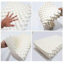 Natural latex pillow, protect cervica high resilience health care pillow white dormitory pillow for the elderly dormitory hotel