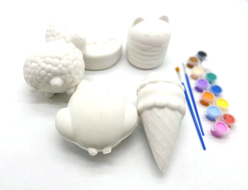 Cute Jumbo Big Soft Slow Rising Make Paint Your Own Squishy Owl Ice Cream Unicorn Cat Blank Squishy Toys With Painting Pen