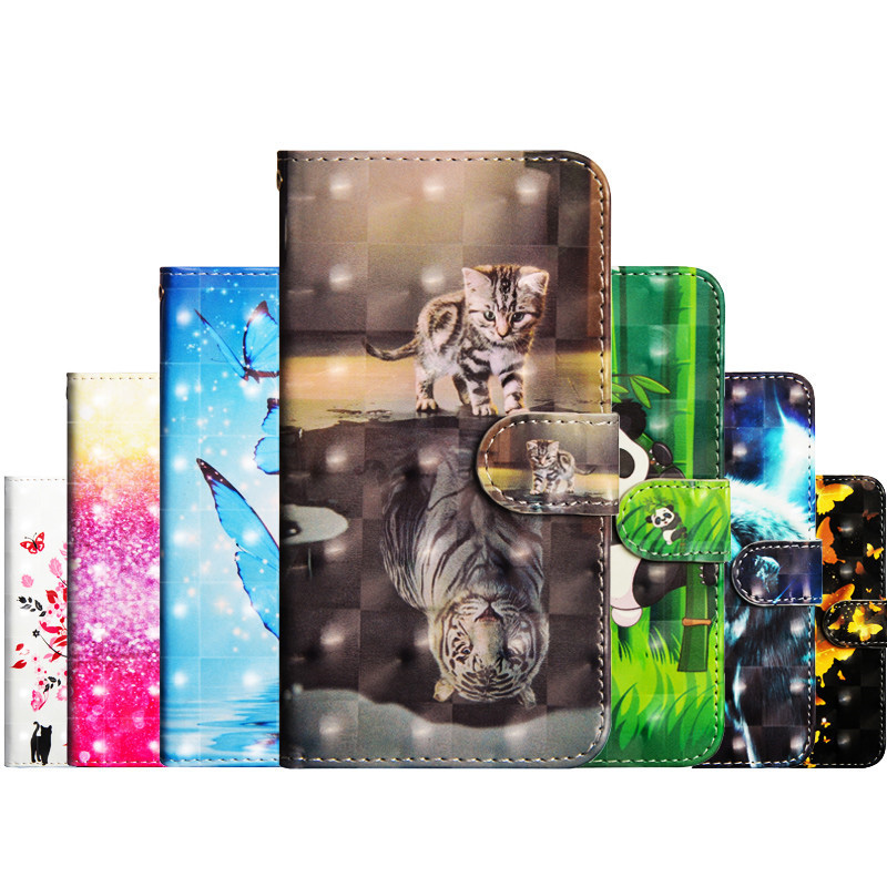 Flip Leather Case on For Fundas Nokia 8.1 Case For Nokia 8.1 Cover For coque Nokia 8.1 Cover 3D panda Wallet Stand Phone Case
