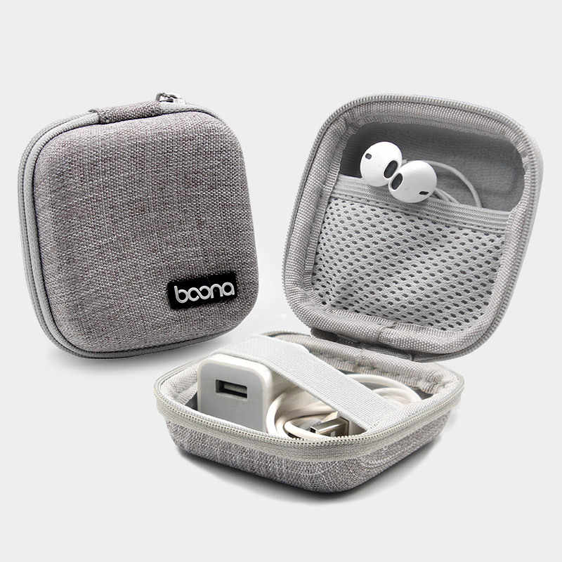Mini Perjalanan Membawa Headphone Kabel Data Penyimpanan Kotak Charger U Disk Memori Kartu Digital Organizer Kunci Zipper Pouch Kit Aksesoris