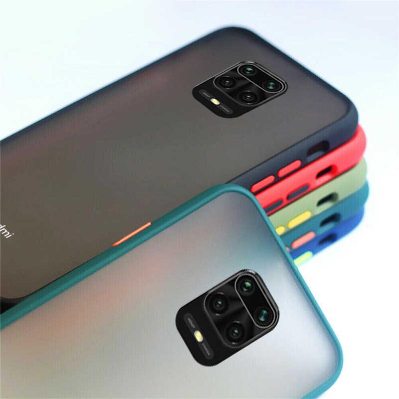 Hibrid silikon telefon kılıfı için Xiaomi Note 10 Lite Mi 10 Pro 9T F2 Pro A3 Lite zırh mat kapak Redmi için not 9S 8T 8A K30 Pro