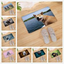 Cute Pet Dog Pictures Print Doormat Floor Mat Kitchen Carpet Door  Living Room Mats Outdoor 80CM