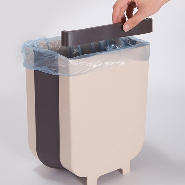 Folding Wall Mounted Trash Bin