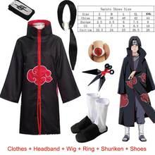 Naruto cztery/sześć pokoleń Akatsuki Coplay z długim rękawem drukuj płaszcz szata Rebel pałąk rzutki Suzaku pierścień rekwizyty do Cosplay