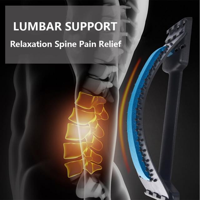Back Massager Stretcher Equipment Massage Tools Massageador Magic Stretch Fitness Lumbar Support Relaxation Spine Pain Relief 2