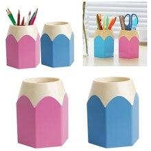 Stationery-Cup Makeup-Brush-Holder Pen-Vase Pencil-Pot Creative Pink New