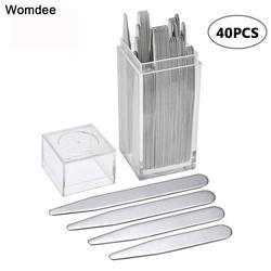 Для выведения токсинов, 40 шт 201 воротник из нержавеющей стали остается кости жесткости серебро Цвет с коробкой 5,58 см 6,35 см 7 см 7,6 см