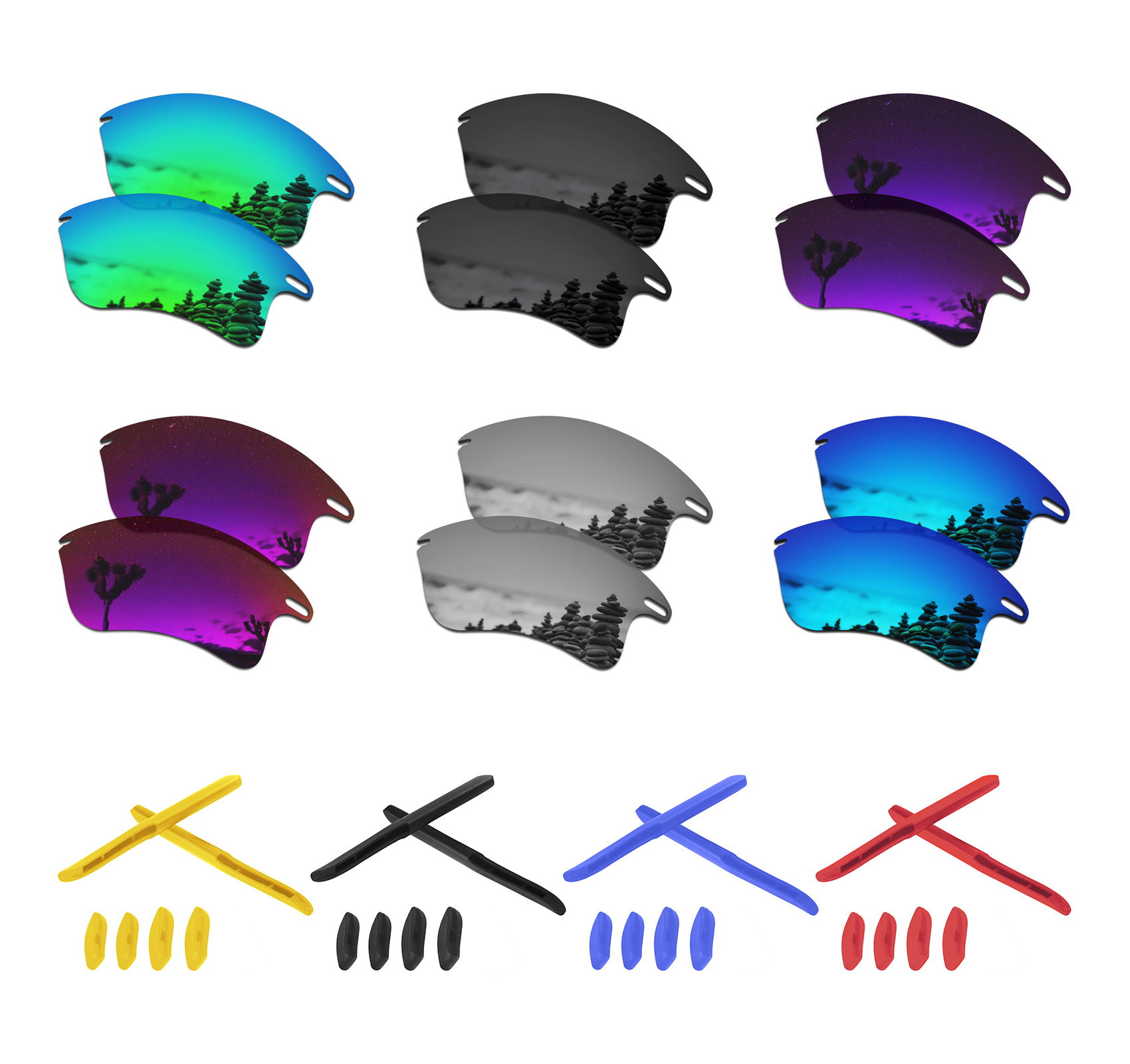 SmartVLT Polarized Replacement Lenses For Oakley Fast Jacket XL Sunglasses - Multiple Options