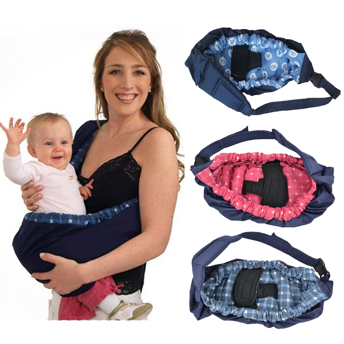 Newborn Baby Carrier Swaddle Sling Infant Nursing  Pouch Front Carry Wrap Pure Cotton Breastfeed Feeding Carry Bag