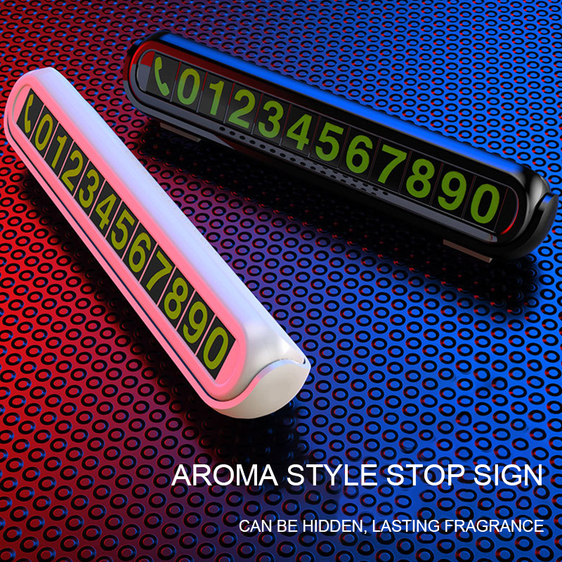 Image 2 - Hidden Temporary Car Parking Card with Aromatherapy Telephone Number Card Luminous Phone Number Card Plate for Car Accessories-in Car Stickers from Automobiles & Motorcycles