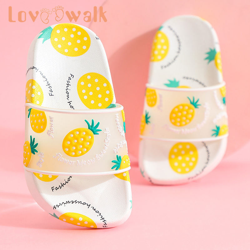 Fruit Children Slipper Summer Fashion Kids Slipper Cute Girls Sandals Anti Slip Parent-child Slipper Soft Home Shoes For Girls