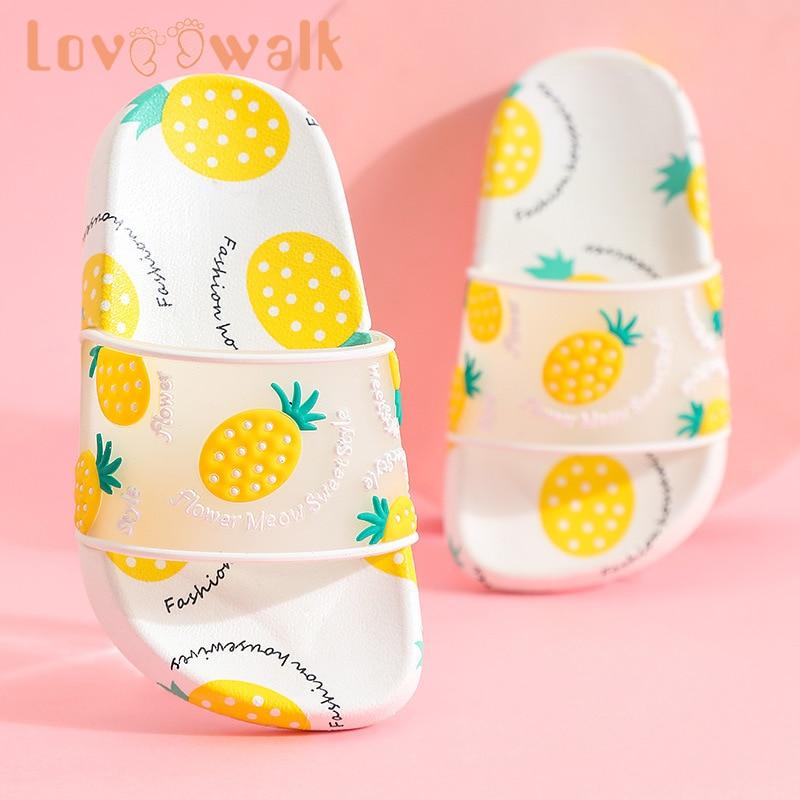 Fruit Children Slipper Summer Fashion Kids Slipper Cute Girls Sandals Anti Slip Parent-child Slipper Soft Home Shoes For Girls