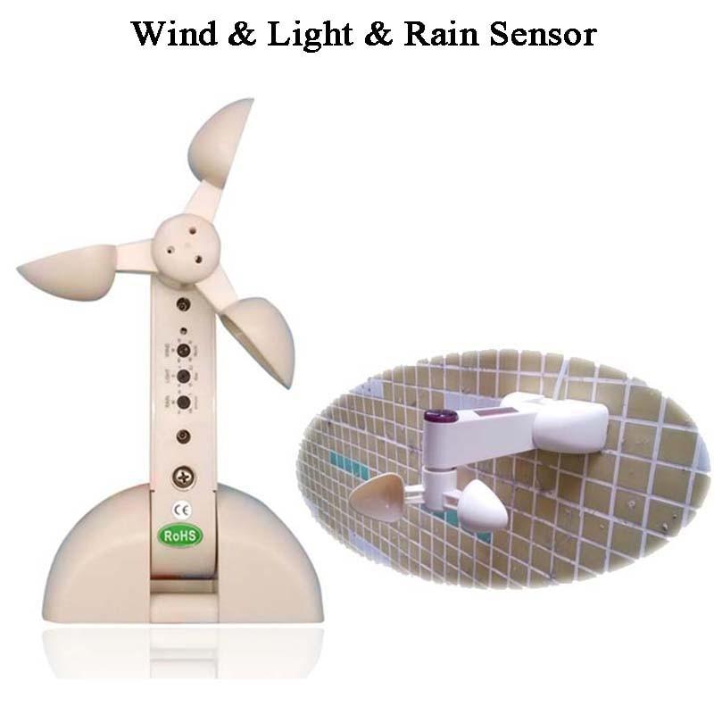 DC12V Wireless Weather Sensor Wireless Wind Rain Light Sensor Close Open Window/skylight/greenhouse