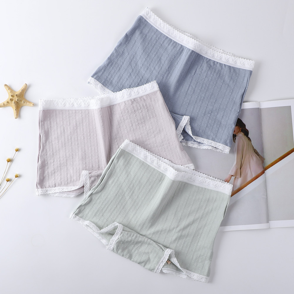 3pcs Underwear Women Plus Size Panties Briefs Sexy Lingerie Comfort Cotton Boyshorts For Female Underpants Solid Panty Intimates