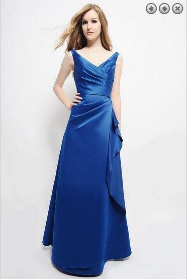 Free Shipping Dinner Dress 2017 New Fashion Plus Size Brides Maid Dress Formales Short Dress Royal Blue Bridesmaid Dress