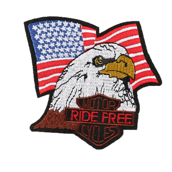 Tactical Combat United State America US Bald Eagle Flag Embroidered Iron on Patch for Jacket Cap Backpack Diy Accessory image