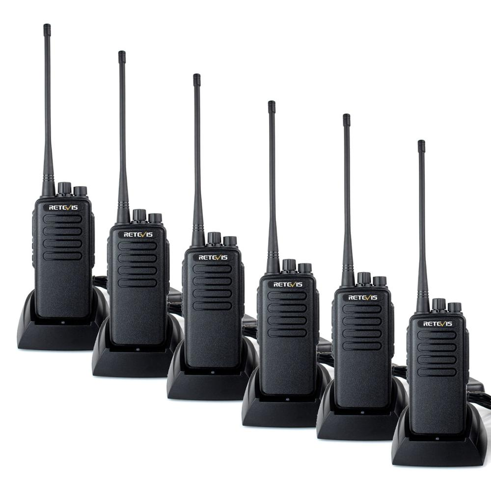 High Power Walkie Talkie 6pcs Retevis RT1 VHF (or UHF) 3000mAh Two Way Radio Long Range Walkie-Talkie For Factory Warehouse Farm