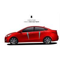 Hohe-qualität edelstahl Streifen Auto Fenster Trim Dekoration Zubehör Auto styling 4 stücke Für 2010-2015 Hyundai VERNA