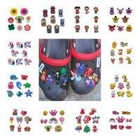 8-9 pièces/lot araignée homme jeu de trônes PVC chaussures breloques accessoires pour chaussures Bracelets Croc JIBZ chaussures Ormaments meilleurs cadeaux