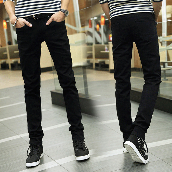 Spring And Autumn Students MEN'S Jeans Slim Fit Elastic Men's Korean-style Fashion Skinny Men's Trousers Teenager Trousers