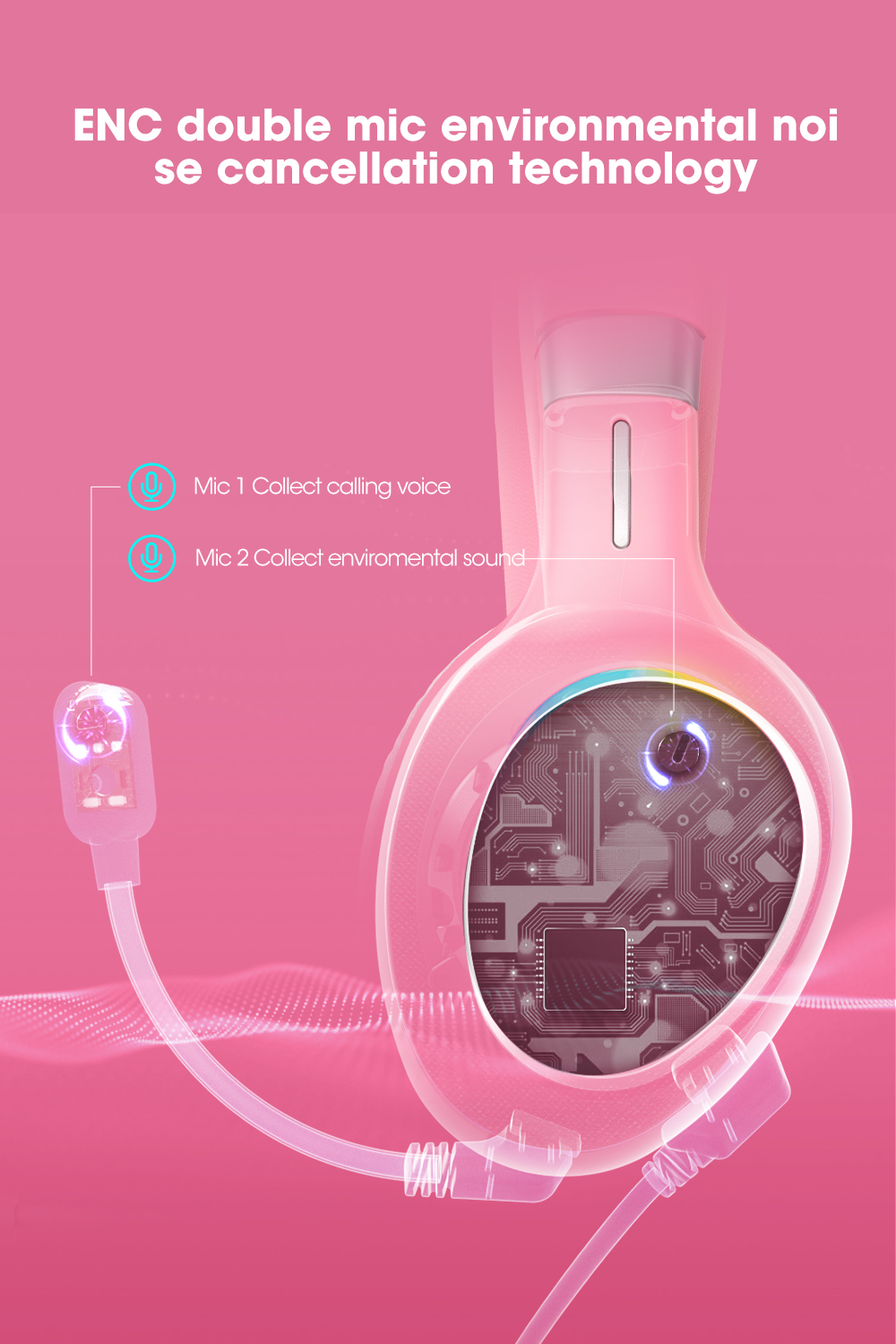 wired over ear gamer fone de ouvido