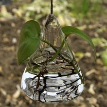 2018 Hot Sale Hanging Clear Glass Vase Hanging Terrarium Hydroponic Plant Flower Clear Container Indoor Hanging Vase Home Decor(China)