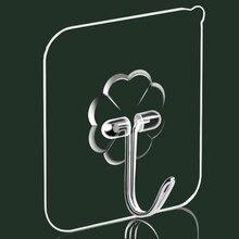 Рыболовные крючки стены крючок Вешалка Прозрачная присоска Водонепроницаемый Нержавеющая сталь крюк сильный клей для Кухня Ванная комната 1/4 штуки в комплекте