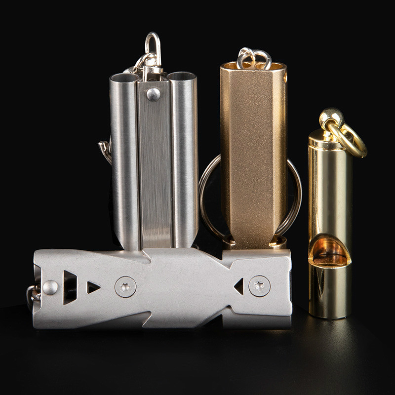 Metal Whistle Outdoor Survival Sentinel Pops Wild High Frequency Whistle Earthquake Life-saving Whistle High Decibel