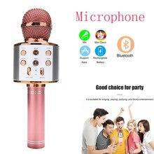 Original sem fio karaoke microfone bluetooth micro 6d0 super bass casa ktv para música cantando microfone microfone microfono para cantar