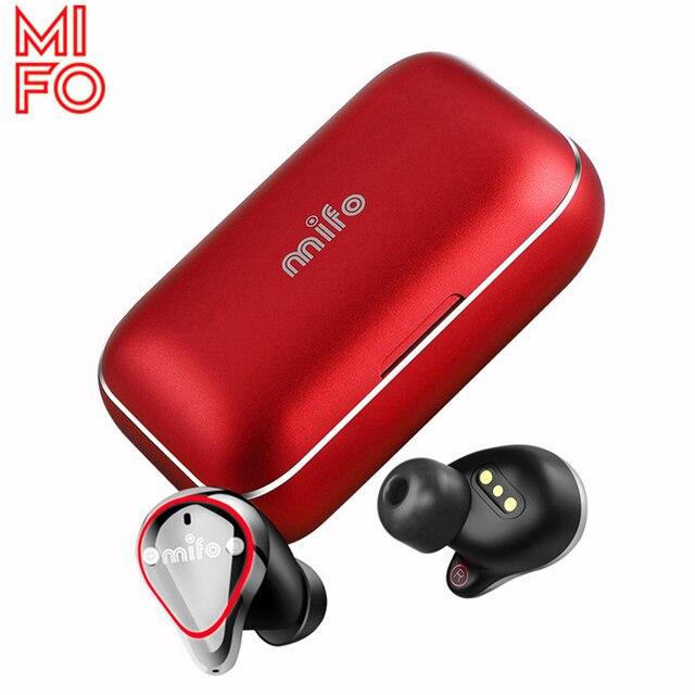 Mifo O5 TWS Vero Auricolari Senza Fili IPX7 Impermeabile Bluetooth Auricolari Stereo Senza Fili del Trasduttore Auricolare con Microfono Chiamate in Vivavoce