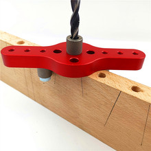 6/8/10mm Vertical Hole Jig Wood Dowel Hole Drilling Guide Jig Drill Bit Kit Joinery System Woodworking Drilling Locator