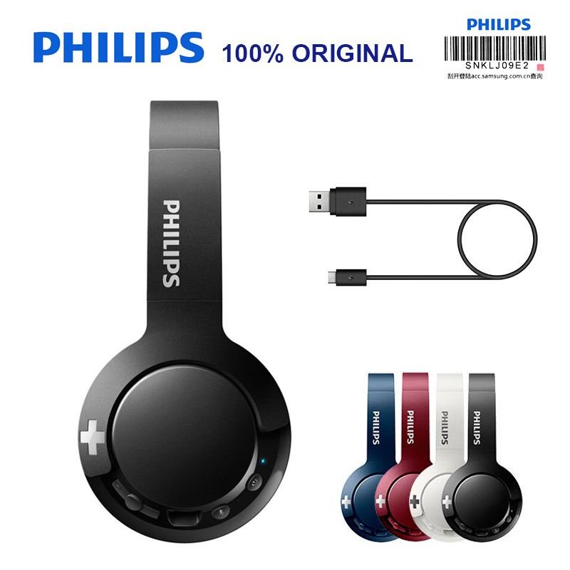 Original Philips Wireless Headphone SHB3075 HIFI <font><b>Bluetooth</b></font> 4.1 With Mic Noise Reduction for Galaxy S8/<font><b>S9</b></font>/S10 Note 8/9 Huawei image