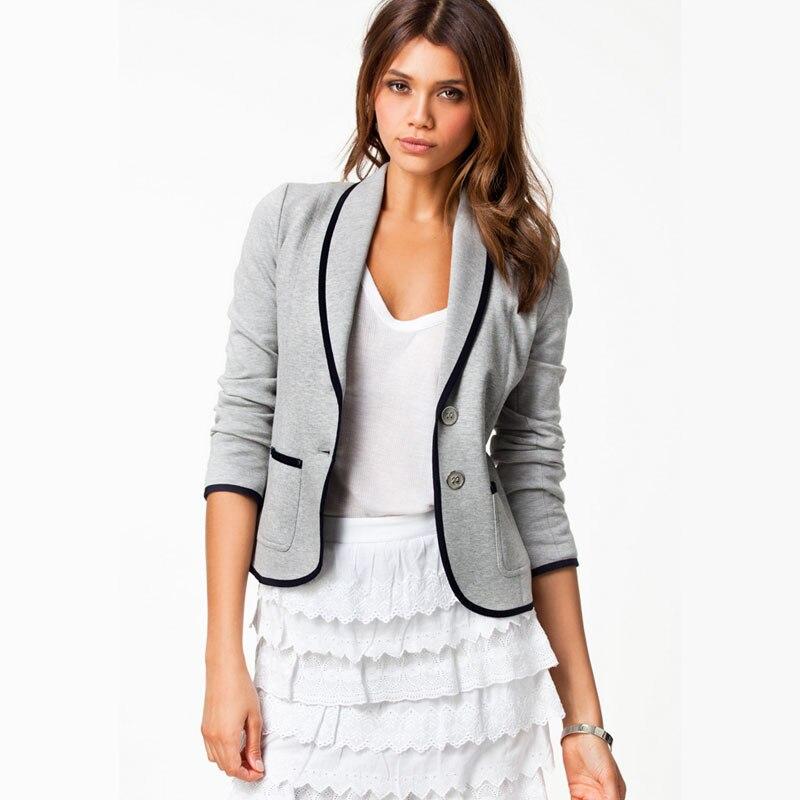 KEKEMALI Long Sleeve Single Button Cropped Blazers Women Casual Coat Plus Size Lady Suit Office Wear Female Jacket Outerwear