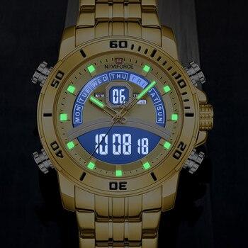 NAVIFORCE Luxury Business Watch Men Sport Digital Timing Military Quartz Gold Wristwatch Male Waterproof Clock Relogio Masculino - discount item  50% OFF Men's Watches