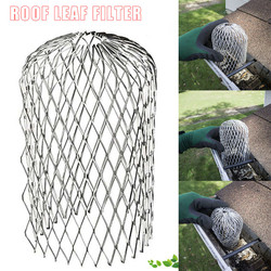 1 Pc Gutter Guard Downspouts Filter Strainer Preventing Leaf Debris Branches Roof Moss from Clogging the Pipes