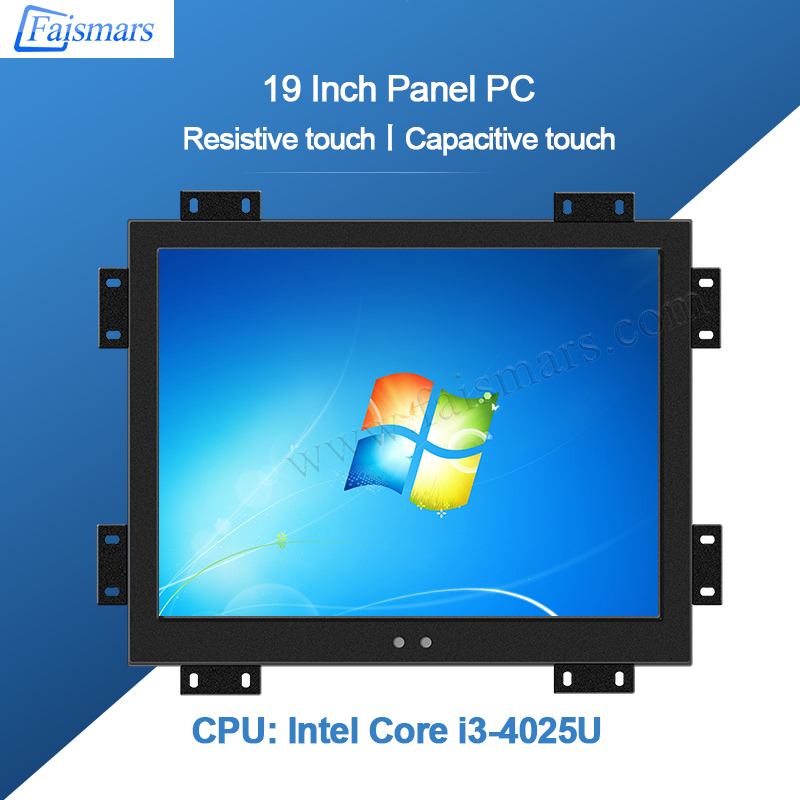 Faismars 19 Inch 10 Points Capacitive Touch Screen Intel I3-4025U Duad Core All In One Industrial Panel PC