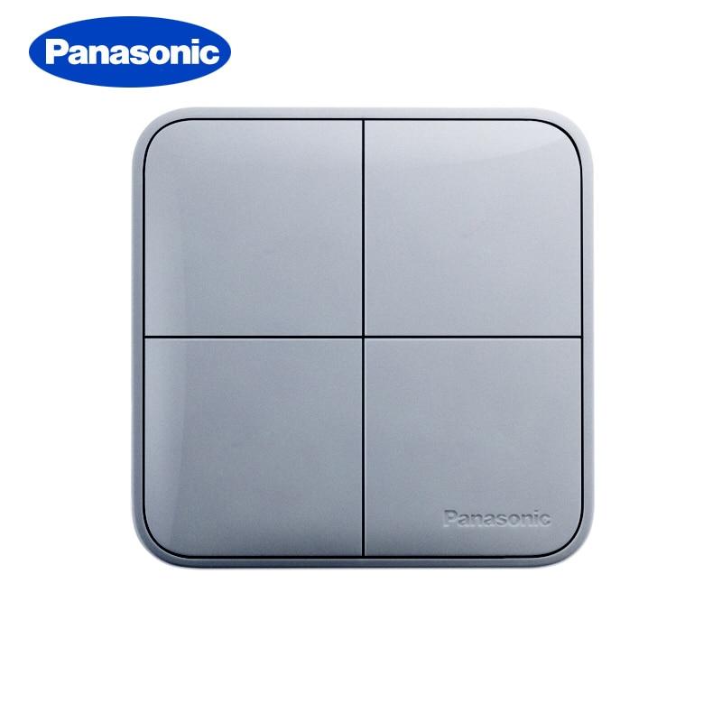 Panasonic Light switch Luxury 86 Type Standard Colored Switch 1 2 3 4 Gang 1 2 Way Wall Light Home Decoration Switch