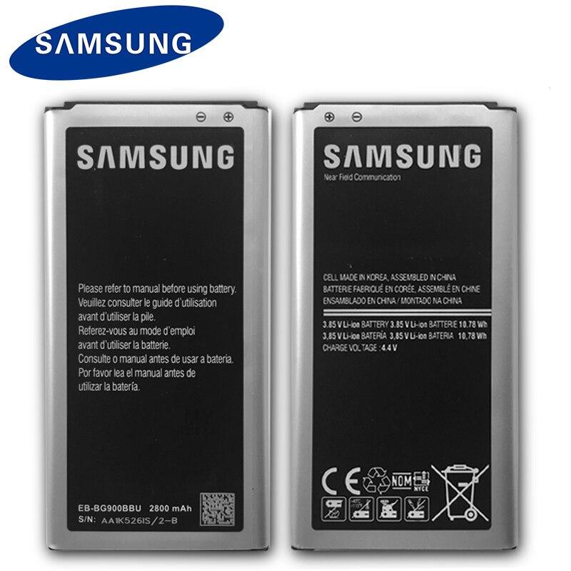 Samsung Original Phone Battery EB-BG900BBU EB-BG900BBC For Samsung S5 G900S G900F G900M G9008V 9008W 9006W G900FD 2800mAh