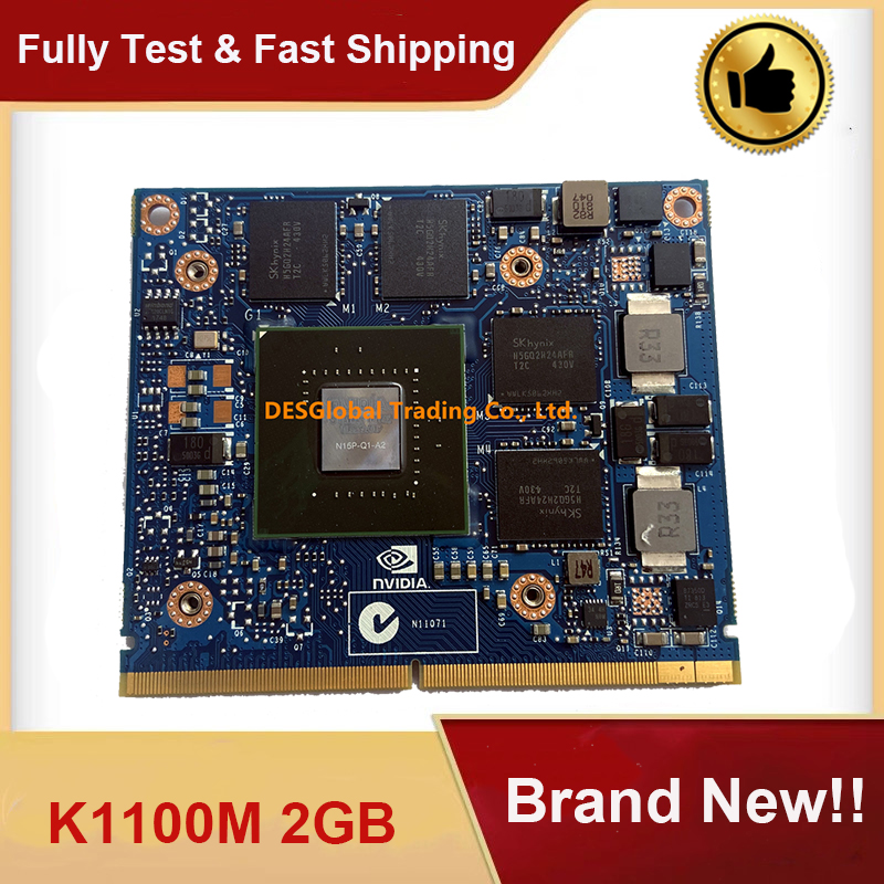 Brand New K1100M K1100 2GB N15P-Q1-A2 VGA Video Graphics Card For DELL M4700 M4800 HP ZBOOK 15 8570W 8770W Fully Tested