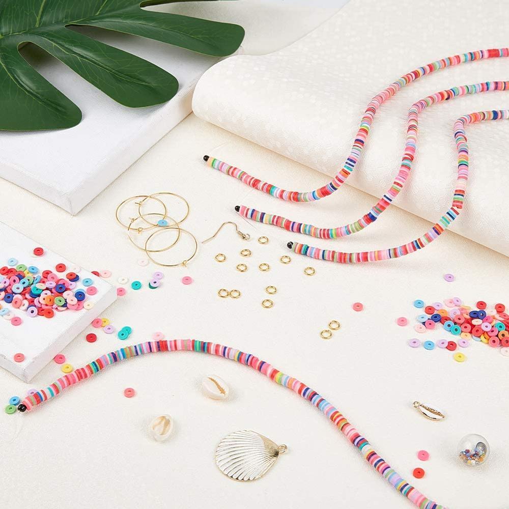 Polymer Clay Beads Cowrie-Shell-Beads Jewelry-Making-Decor Handmade Heishi 15-Colors