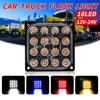 4-inch 48W 16LED Work Light New Square 4x4 Off-road Spotlight Floodlight Car Truck Tractor Side Warning Light Strobe Light