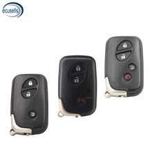 3/4 botão de substituição escudo inteligente remoto chave caso fob 3 + 1 botão para-lexus is250 es350 gs350 ls4 com chave de emergência