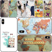 vintage World map Accessories Phone Shell Covers For Apple iPhone X XR XS 11Pro MAX 4S 5S 5C SE 6S 7 8 Plus ipod touch 5 6 apple чехол moschino iphone6 5s 5c plus 4s