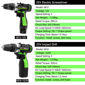 Image 3 - Screwdriver 12V 16.8V Cordless Electric Screwdriver Rechargeable Lithium Battery Dual Speed Cordless Drill Power Tools